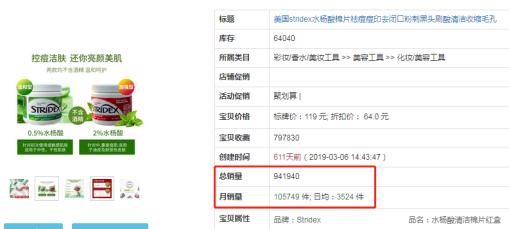 全网爆红单月销售过百万支的Stridex施颜适水杨酸棉片大揭秘!